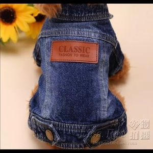 Super cute dog/cat small denim jacket